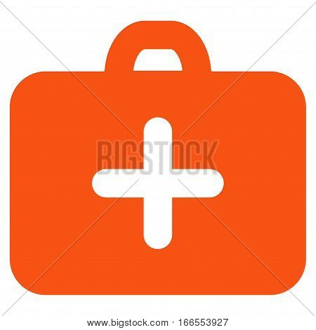 First Aid Case vector icon. Style is flat graphic symbol.