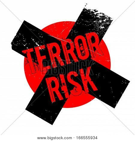 Terror Risk rubber stamp. Grunge design with dust scratches. Effects can be easily removed for a clean, crisp look. Color is easily changed.