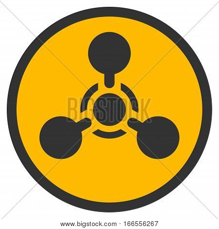 Wmd Nerve Agent Chemical Warfare vector icon. Style is flat graphic symbol.