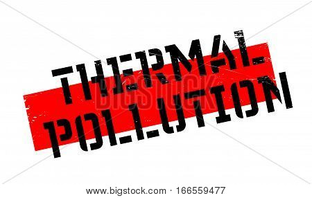 Thermal Pollution rubber stamp. Grunge design with dust scratches. Effects can be easily removed for a clean, crisp look. Color is easily changed.