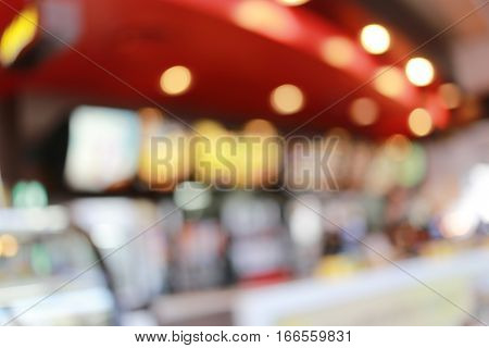 Abstract blur background of Restaurants cafe for design backdrop to Presentation or business promotion.