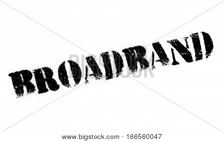 Broadband rubber stamp. Grunge design with dust scratches. Effects can be easily removed for a clean, crisp look. Color is easily changed.