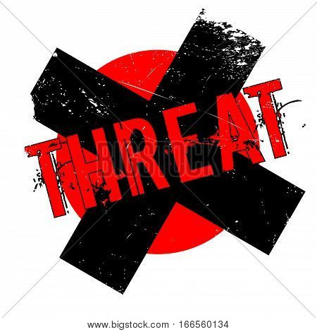 Threat rubber stamp. Grunge design with dust scratches. Effects can be easily removed for a clean, crisp look. Color is easily changed.