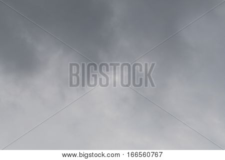 Rain clouds forming in the sky in concept of climatePoor weather in the day.