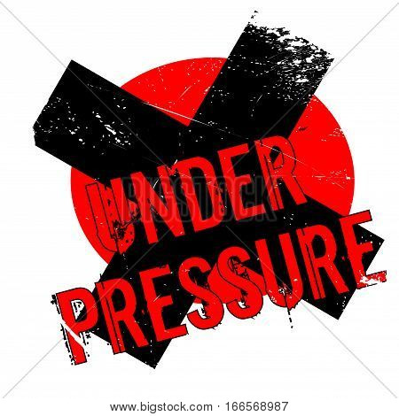 Under Pressure rubber stamp. Grunge design with dust scratches. Effects can be easily removed for a clean, crisp look. Color is easily changed.