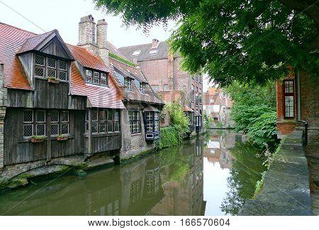 Channels of Bruges. Belgium. Medieval fairytale city