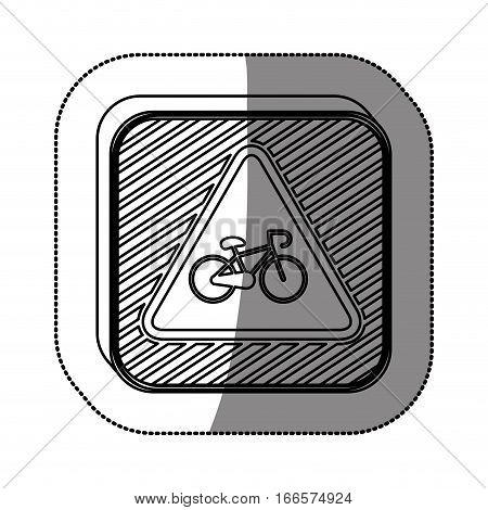 Bike symbol roadsign icon vector illustration graphic design