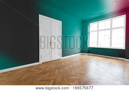 Empty Room With Painted Walls