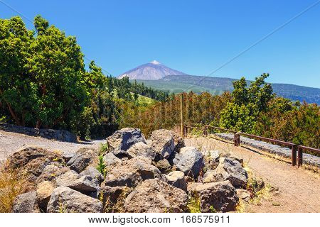 View Of  El Teide Volcano In Tenerife, Canary Islands, Spain