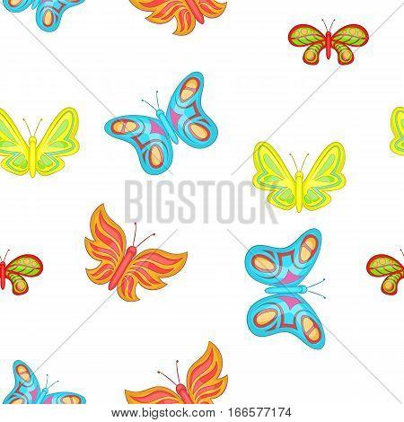 Creatures butterflies pattern. Cartoon illustration of creatures butterflies vector pattern for web