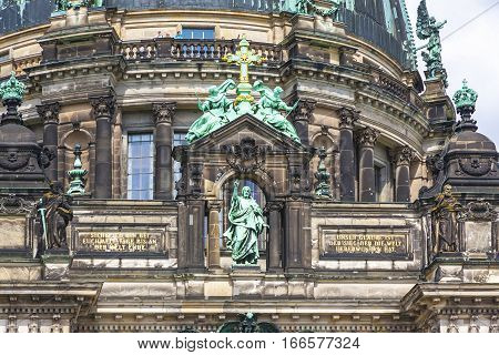 Facade Details Of Berlin Cathedral (berliner Dom), Germany.