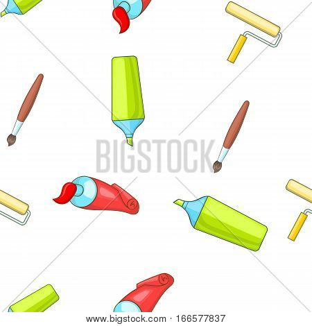 Painting pattern. Cartoon illustration of painting vector pattern for web