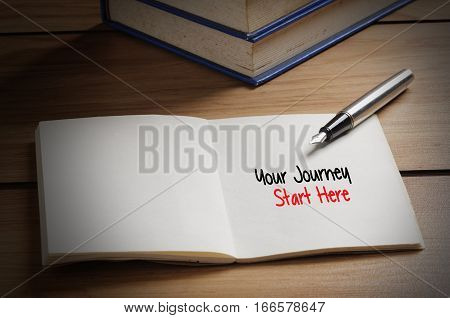 Your Journey Start Here Word On Book