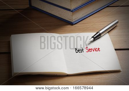 Best Service Word On Book