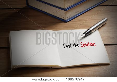 Find The Solution Word On Book
