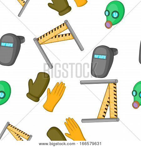 Construction ground pattern. Cartoon illustration of construction ground vector pattern for web