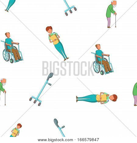 Disabled pattern. Cartoon illustration of disabled vector pattern for web