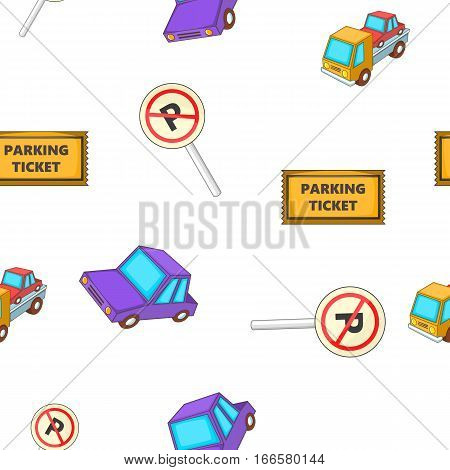 Valet parking pattern. Cartoon illustration of valet parking vector pattern for web