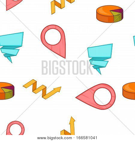 Schedule pattern. Cartoon illustration of schedule vector pattern for web