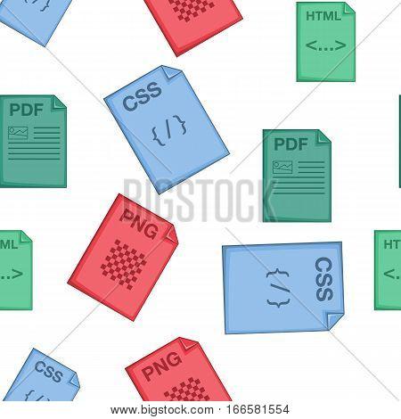 Files pattern. Cartoon illustration of files vector pattern for web