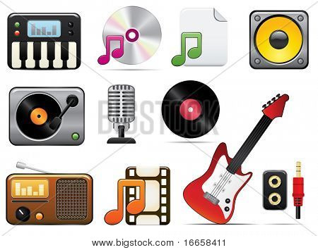 Music Icon Set One. Easy To Edit Vector Image.