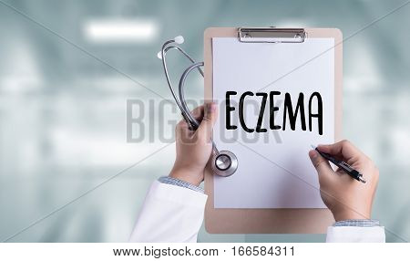 Eczema Dermatitis Eczema Skin Of Patient , The Problem With Many People