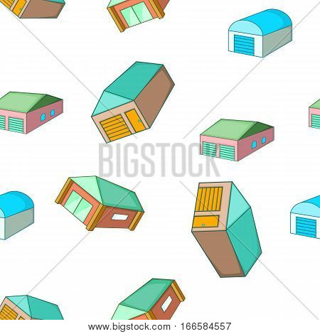 Garage pattern. Cartoon illustration of garage vector pattern for web