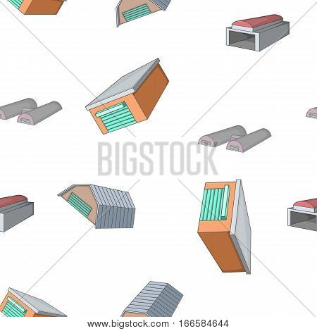 Types of garages pattern. Cartoon illustration of types of garages vector pattern for web