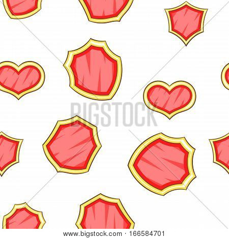 Military shield pattern. Cartoon illustration of military shield vector pattern for web
