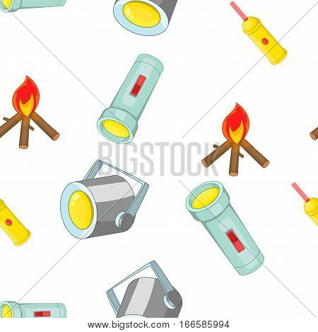 Equipment of light pattern. Cartoon illustration of equipment of light vector pattern for web