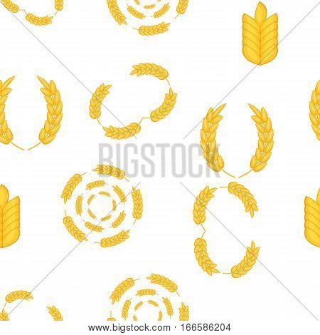 Wheat cereal pattern. Cartoon illustration of wheat cereal vector pattern for web
