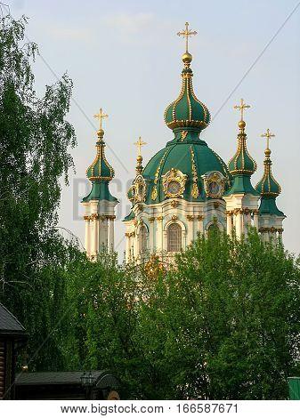 The Saint Andrew's church in Kiev Ukraine