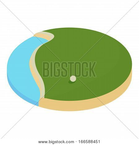 lake in the golf course icon. Cartoon illustration of lake in the golf course vector icon for web design