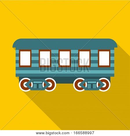 Passenger wagon icon. Flat illustration of passenger wagon vector icon for web design