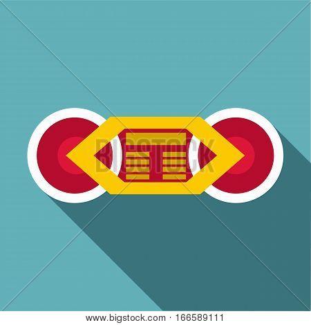 Train wheels icon. Flat illustration of train wheels vector icon for web design
