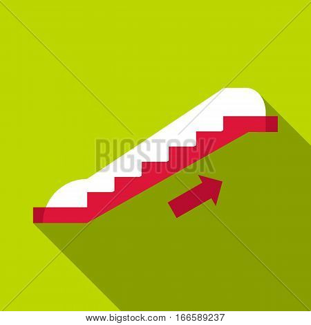 Escalator icon. Flat illustration of escalator vector icon for web