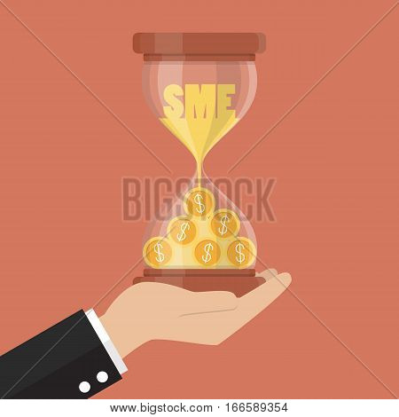 Time is money for Small and Medium Enterprise. Business concept