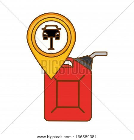 canister gasoline or oil industry related icons image vector illustration design