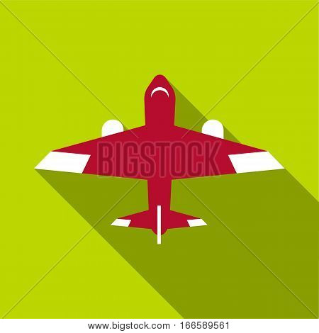 Passenger plane icon. Flat illustration of passenger plane vector icon for web