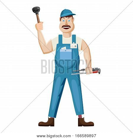Plumber icon. Cartoon illustration of plumber vector icon for web design