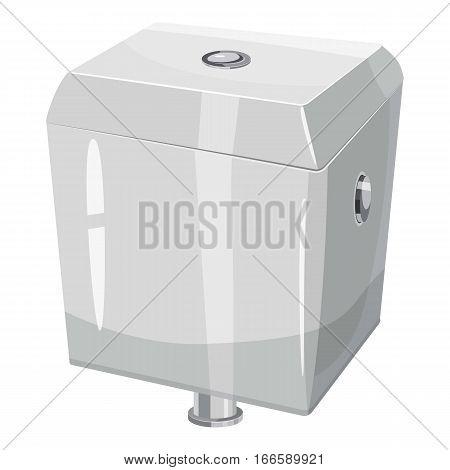 Toilet water tank icon. Cartoon illustration of toilet water tank vector icon for web design