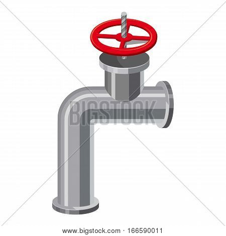 Pipe valve icon. Cartoon illustration of pipe valve vector icon for web design