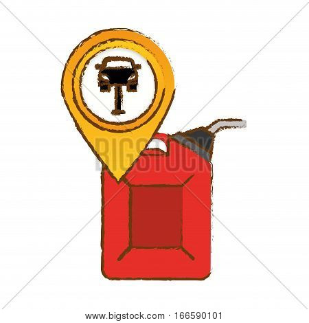 canister gasoline or oil industry related icon image vector illustration design