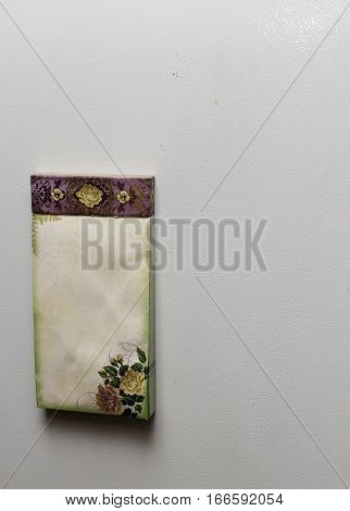 An image of a note pad on white backround.