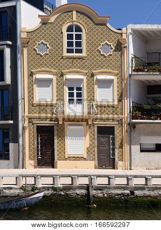 View of some tradicional house of Aveiro Portugal