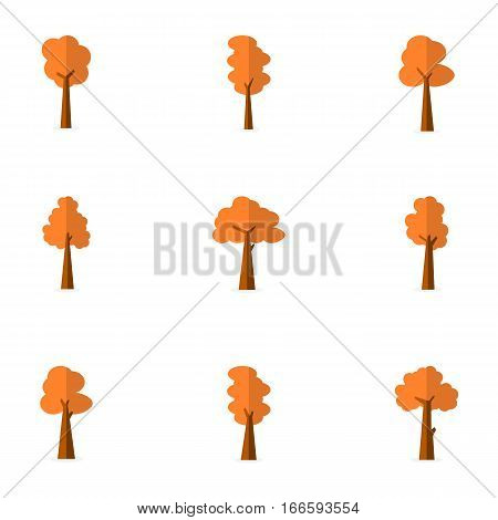 Illustration of tree vector flat collection stock