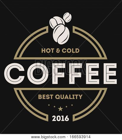 Coffee shop logo vector illustration. Coffee icon symbol. Hot and cold coffee sign. Coffee shop logo emblem vector. Template of coffee shop logo for restaurant or bar. Vintage coffee logo or coffee stamps.