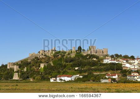 Village and castle of Montemor o velho Beiras region Portugal