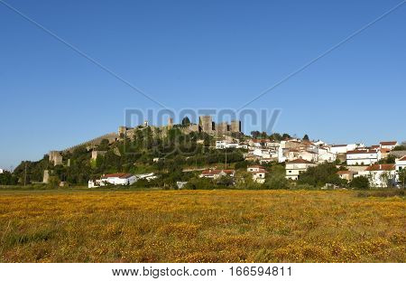 Castle and village of Montemor o Velho Beiras region Portugal