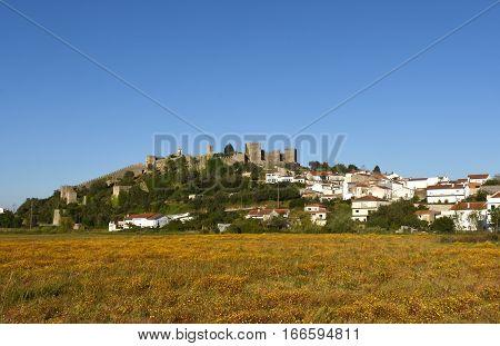 Castle and village of Montemor o Velho Beiras region Portugal